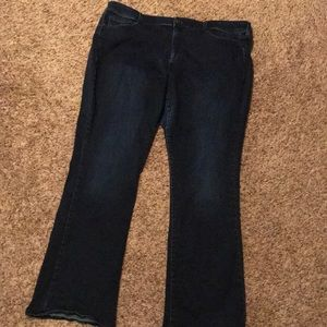 Boutique slim boot cut jeans